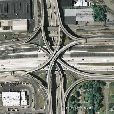 Southfield & Jeffries interchange