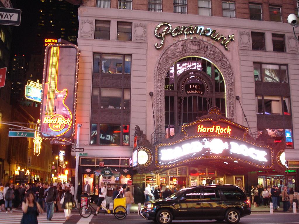 Hard Rock Cafe Em Times Square New York A Photo On