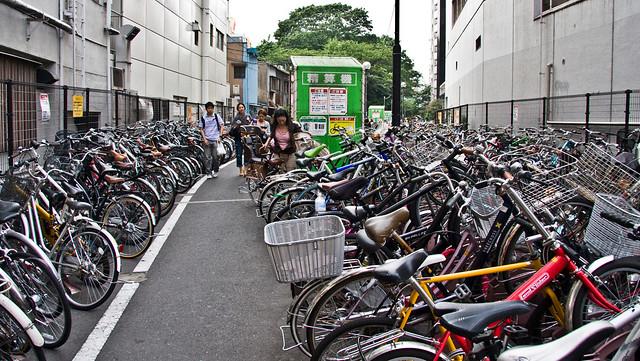 Shibuya Parking - one of the many bike parking areas near the station.