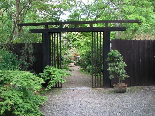 The entrance gate st mawgan japanese garden flickr for Japanese garden entrance