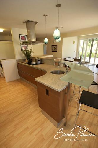 Manoa modern kitchen curved kitchen susan palmer designs for Curved island kitchen designs
