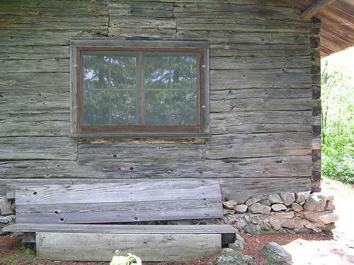 Resting Bench on the side of the cabin
