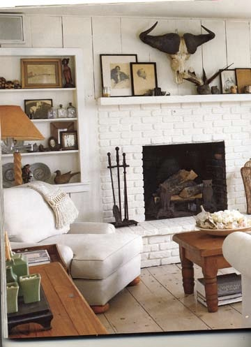 1000 ideas about white brick fireplaces on pinterest - White fireplace living room ideas ...