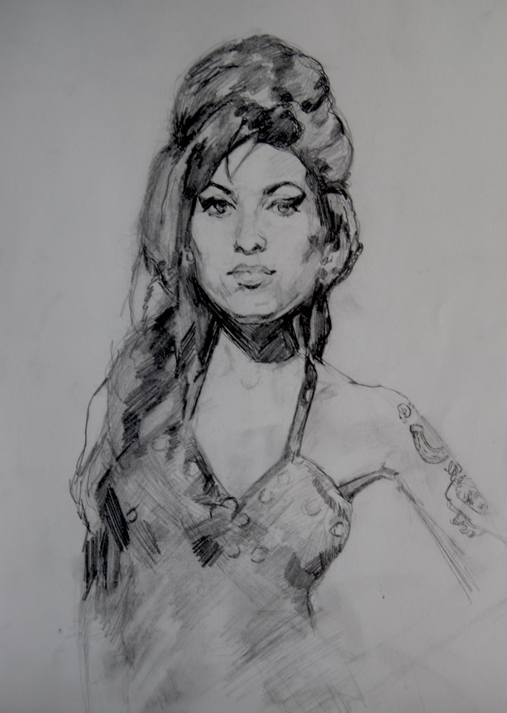 Amy Winehouse Drawing By Kristie Eden Graphite On Paper 2 Flickr