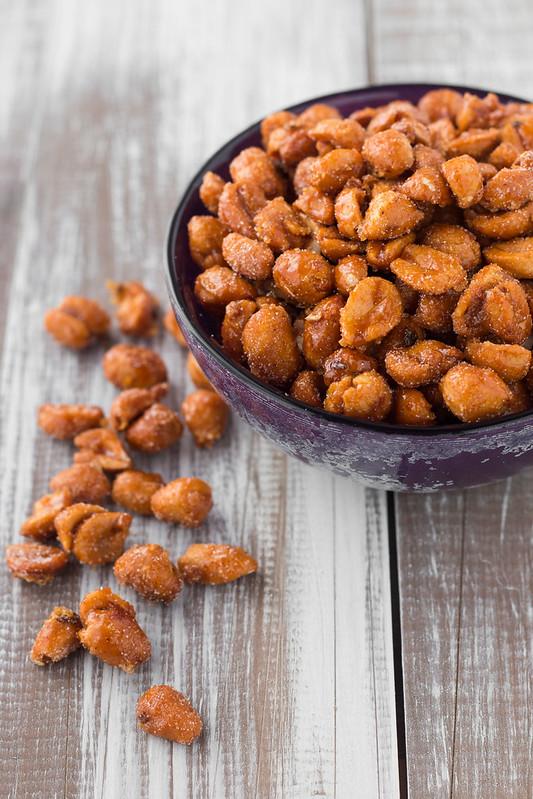 Sweet & Spicy Honey Roasted Peanuts