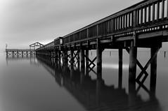 Pier in B&W