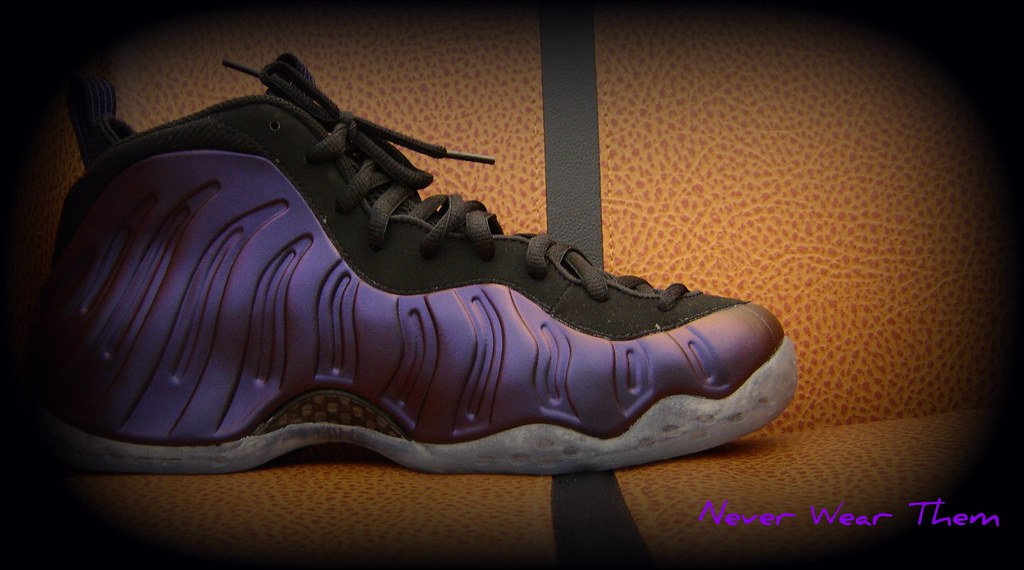 innovative design 9f59f 9c055 ... Foamposite purple   by Never Wear Them