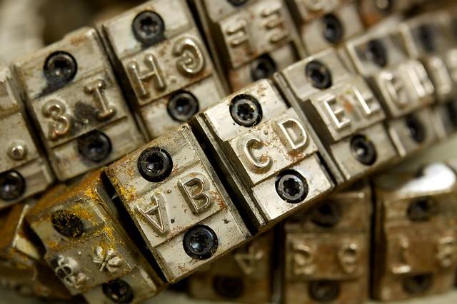 IBM 1403 chain printer chain