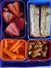 pbj, strawberries, pb pretzels, carrots by mimiito