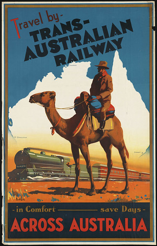 Travel by Trans-Australian Railway across Australia