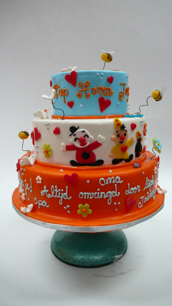 Wondrous Baby Bumba Clown Birthday Cake 2 Zoe Elizabeth Gottehrer Flickr Funny Birthday Cards Online Inifodamsfinfo