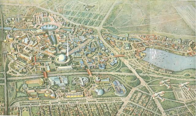 Map of the New York World's Fair 1939-1940