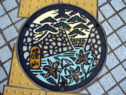 Sasayama town, Hyogo pref manhole cover(兵庫県篠山市のマンホール)