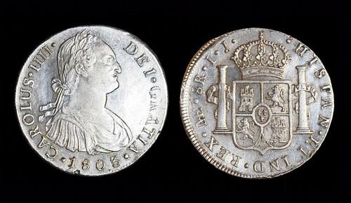 Monedas recuperadas del fondo del mar