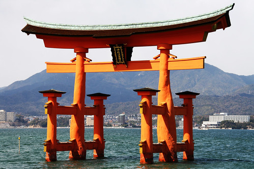 Itsukushima shrine's torii gate, Miyajima, Japan