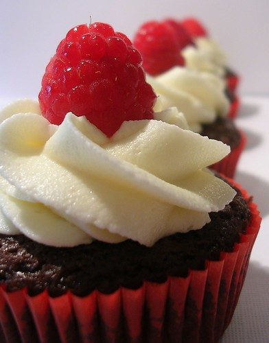 Chocolate Raspberry Cupcakes by bustybaker