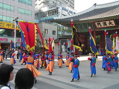 Brighter than Buckingham Palace, the changing of the Royal Guard in Seoul.