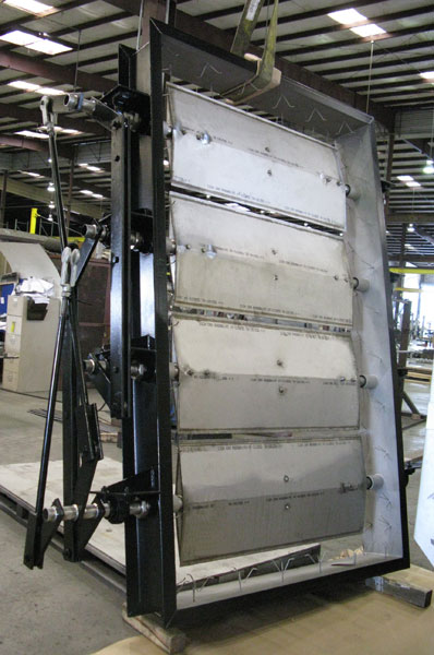 Flue gas duct damper Motorized duct damper