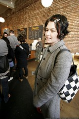 rachel in line to order at stumptown coffee roasters…