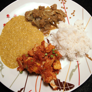 Do Piyaza, Dal and Aloo Gobi