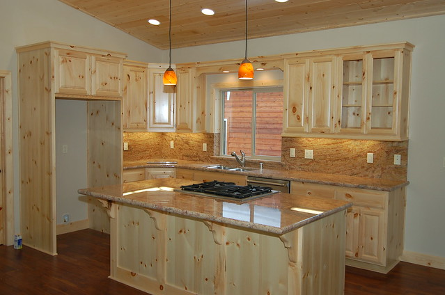 knotty pine kitchen  flickr  photo sharing