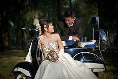 tuan wedding picture vespa