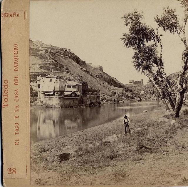 Casa del Diamantista (Toledo) hacia 1860. Fotografía de Ernest Lamy