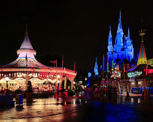 Daily Disney Central Fantasyland At Night Explored
