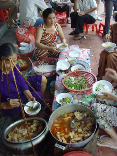 Local cuisine in Vietnam.
