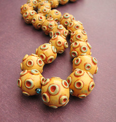Carnival polymer clay necklace