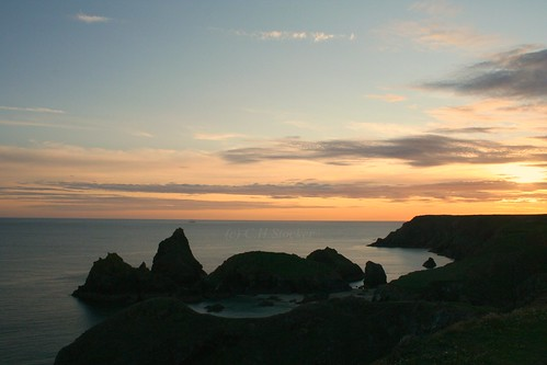 Kynance Cove, the Lizard - Sunset by Claire Stocker (Stocker Images)