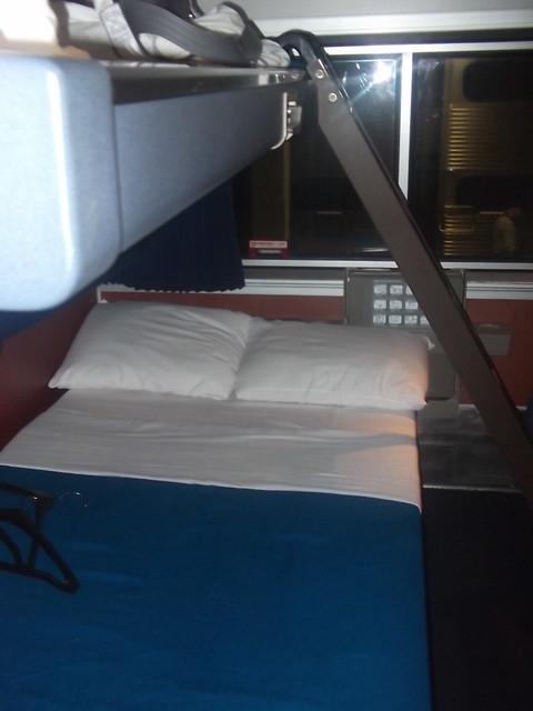 amtrak exhibit sleeper car bedroom unfolded beds