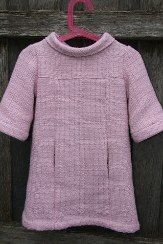 Size 3 school photo dress in wool blend