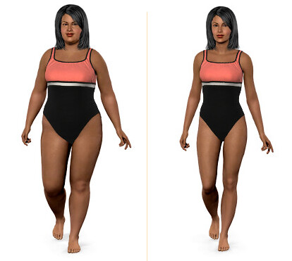 my weight loss model.