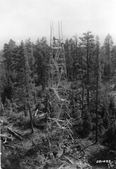 Fire tower construction, Fremont National Forest, Oregon