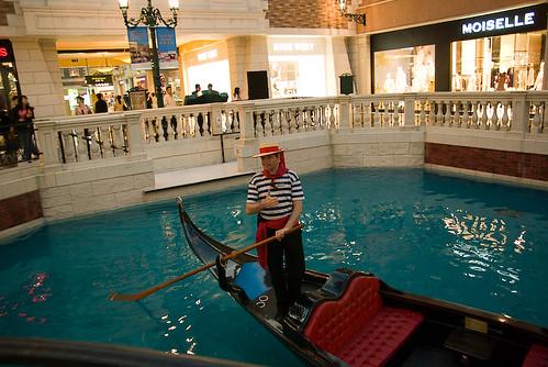 ベネチアン・マカオ リゾート 運河の船