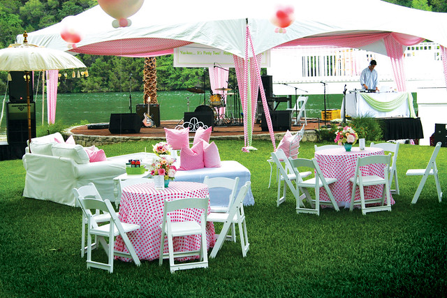 Backyard party camille styles events for Decorating ideas for outdoor engagement party