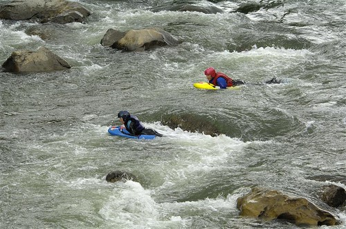 Boogie Boarders catching some rapids