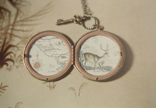secret places, vintage locket necklace
