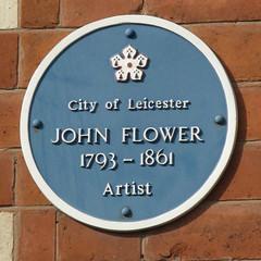 Photo of John Flower blue plaque