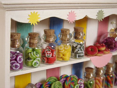 Miniature Food - Dollhouse Candy Cabinet #3