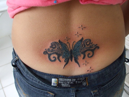 women lower back tattoos butterfly tattoos tattoo ideas for women. Black Bedroom Furniture Sets. Home Design Ideas