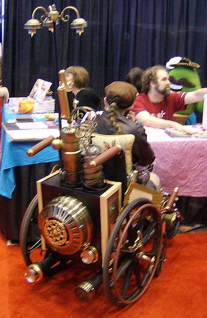 C2E2 - Steampunk wheelchair