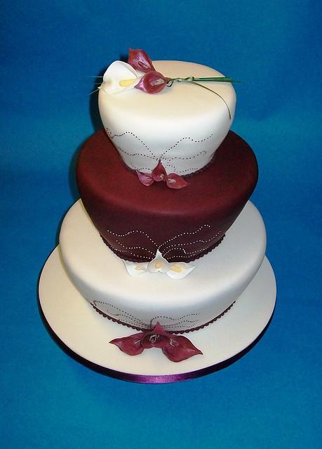 Wedding cake lemon madeira chocolate vanilla madeira with calla lilies