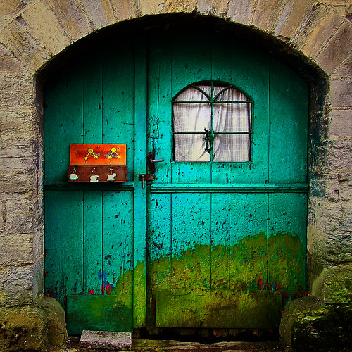the funny green door