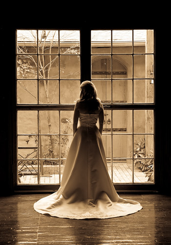 woman window sepia female bride texas dress weddingdress bridal mckinney cottonmill