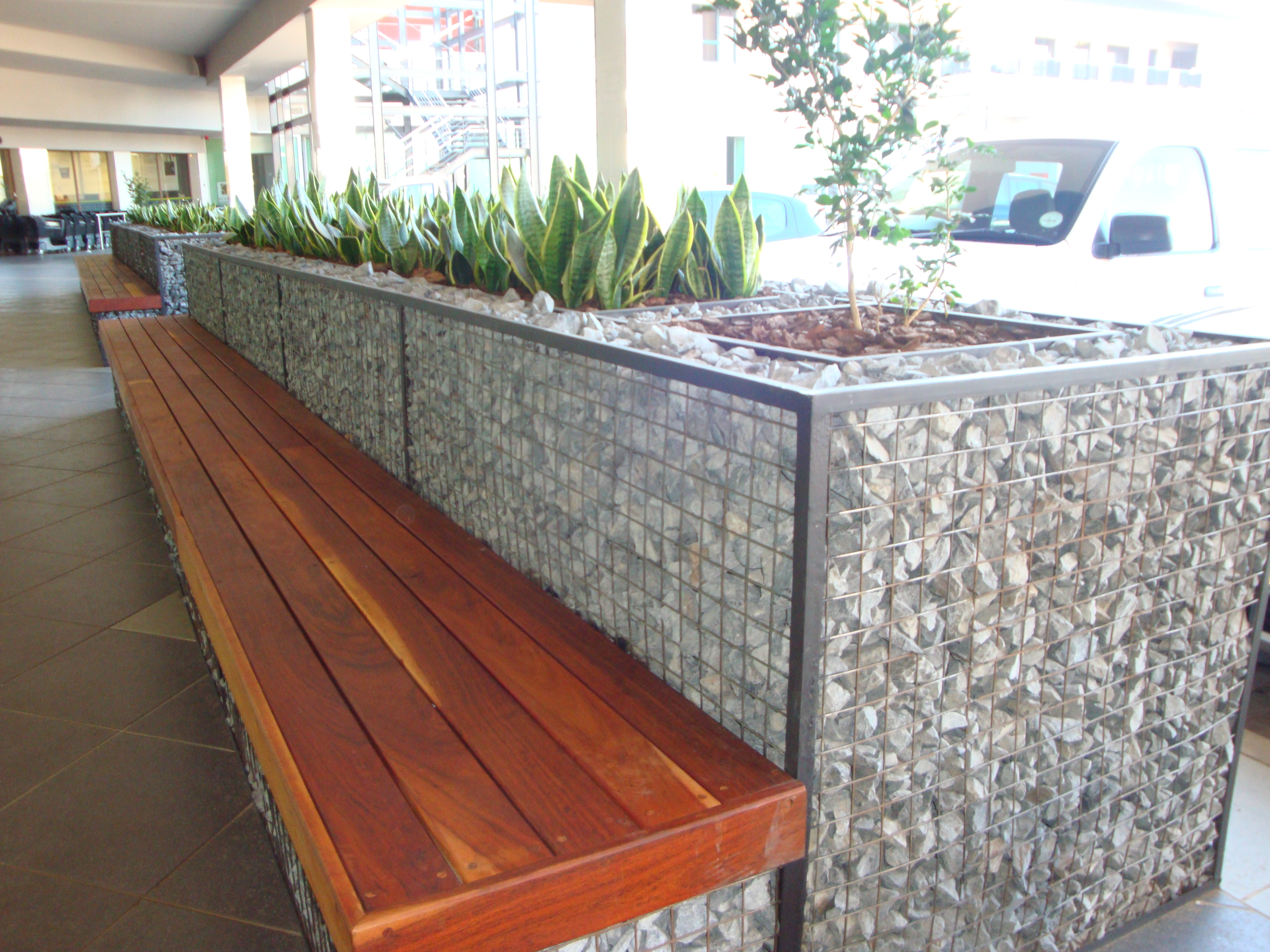 Gabion planter and bench Explore Badec Bros Deco s photos …