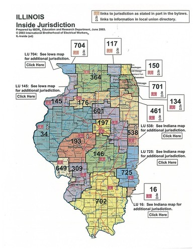 Ibew Illinois Map.Illinois Jurisdictional Map Ibew 601 Flickr
