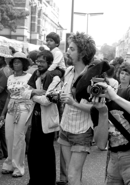 The cameras date this photo -  Notting Hill 1970's