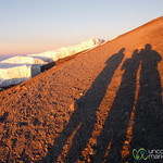 Shadows and Glaciers - Mt. Kilimanjaro, Tanzania